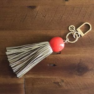 NWOT Tory Burch Keychain Tassle